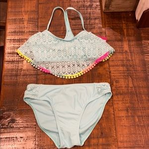BRAND NEW Girls 2 Piece Swimsuit Size 12